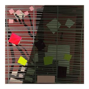 Tree Fern Shadow Series Monotype 14 by Bruce McLean