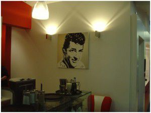 Above: Acrylic painting n canvas of Dean Martin