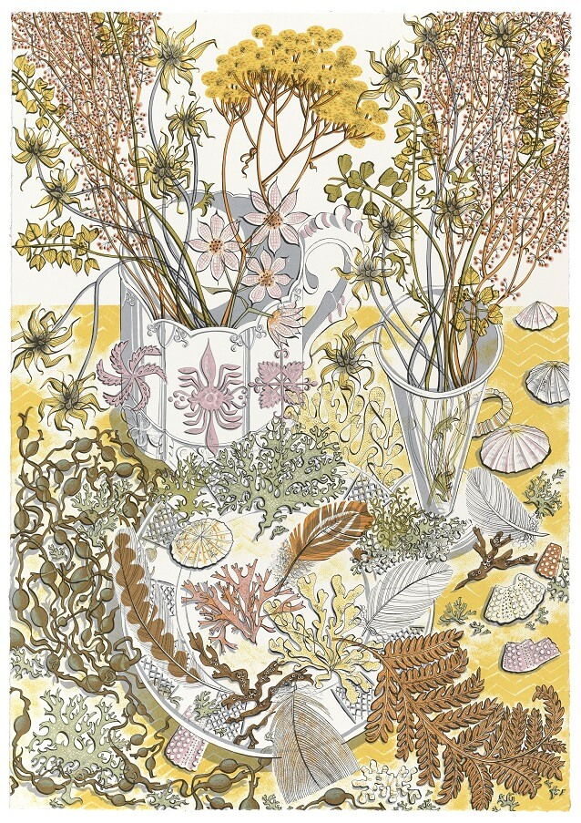 Angie Lewin, Nature Study Late Summer, Screenprint
