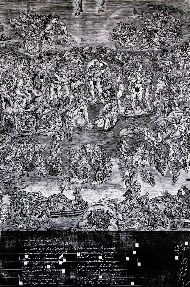 Mei Chen Tseng, The Last Judgement, Wood Engraving